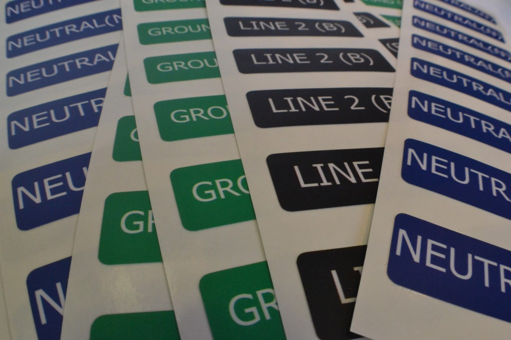line labels printed